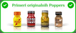 Poppers primer originalnog Poppers
